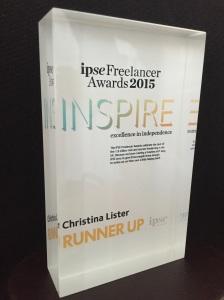 National Freelancer of the Year Runner-up Award